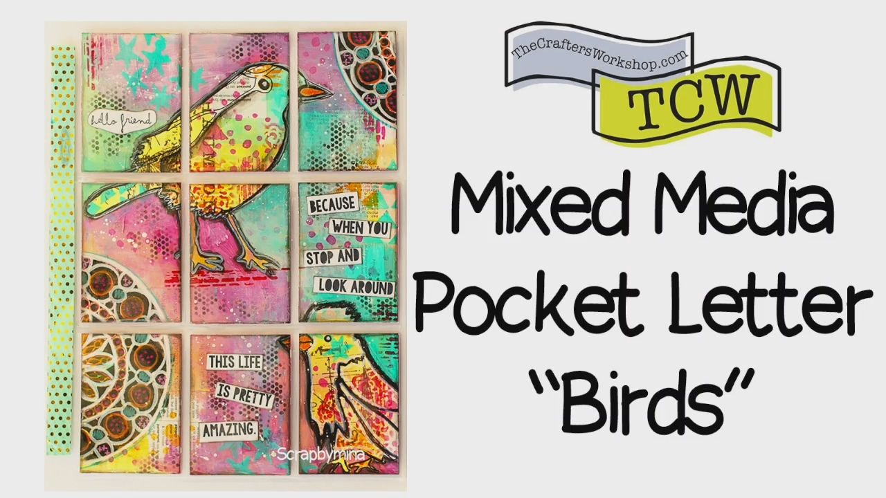 Mixed Media Pocket Letter  I  DT THE CRAFTERS WORKSHOP