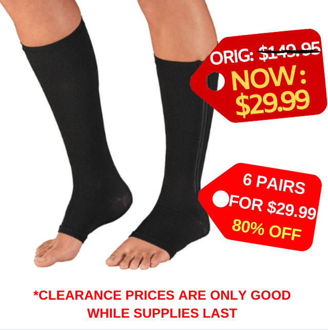 67c978582e Unisex Zipper Compression Socks | BUY 1 GET 5 PAIRS FREE | Health ...