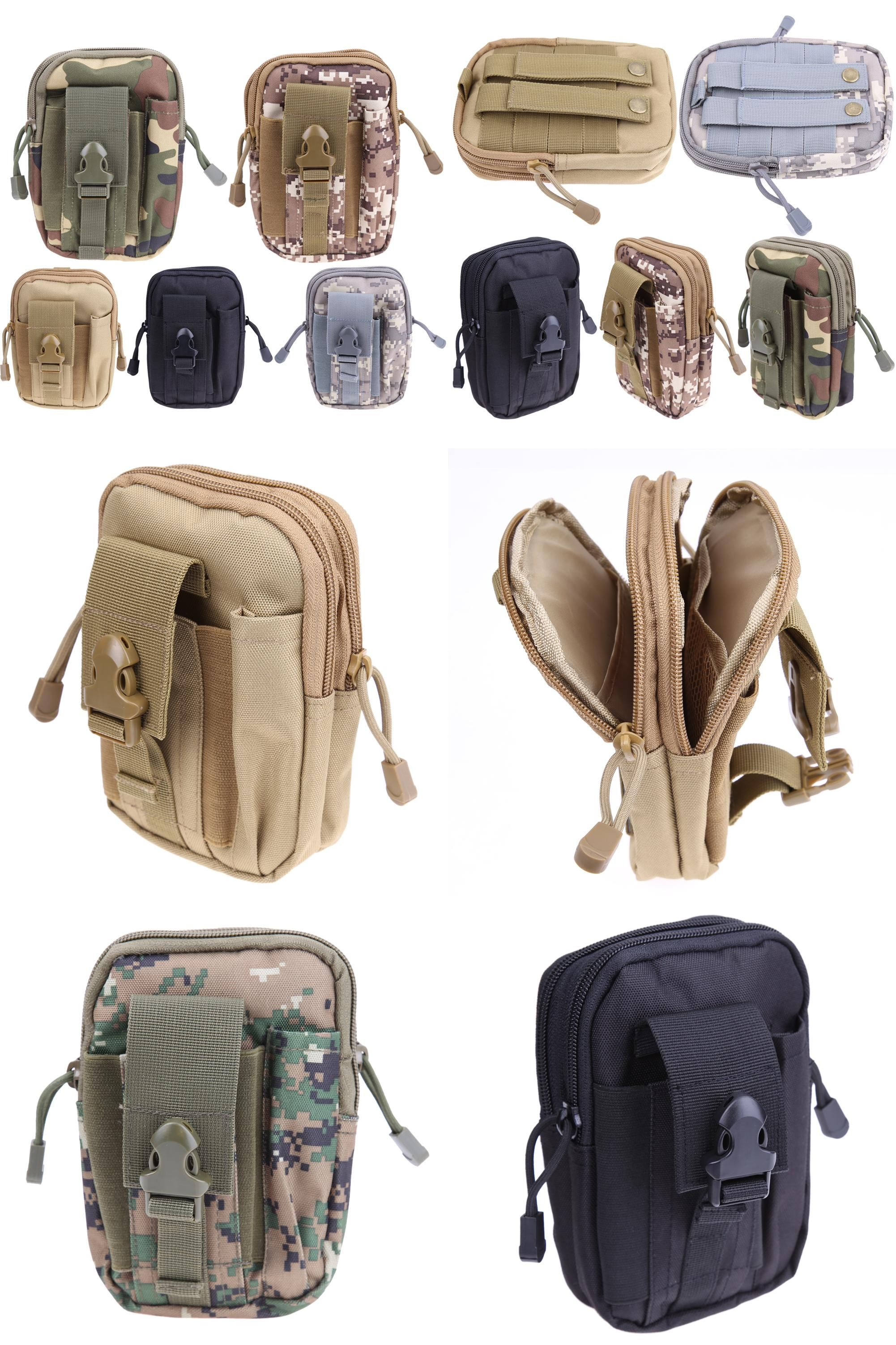 68defa8f9d04  Visit to Buy  Hot Sale Universal Outdoor Sport Tactical Bag Molle Waist  Nags 5.5