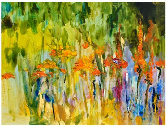 Lily Abstract Outdoor Wall Art | Outdoor wall art, Outdoor walls and ...