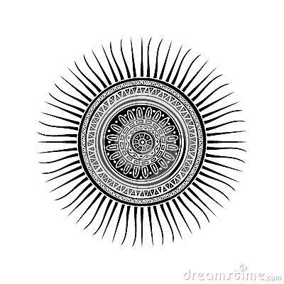 Mayan Sun Symbol Art I N S P I R A T I O N Pinterest Tattoo