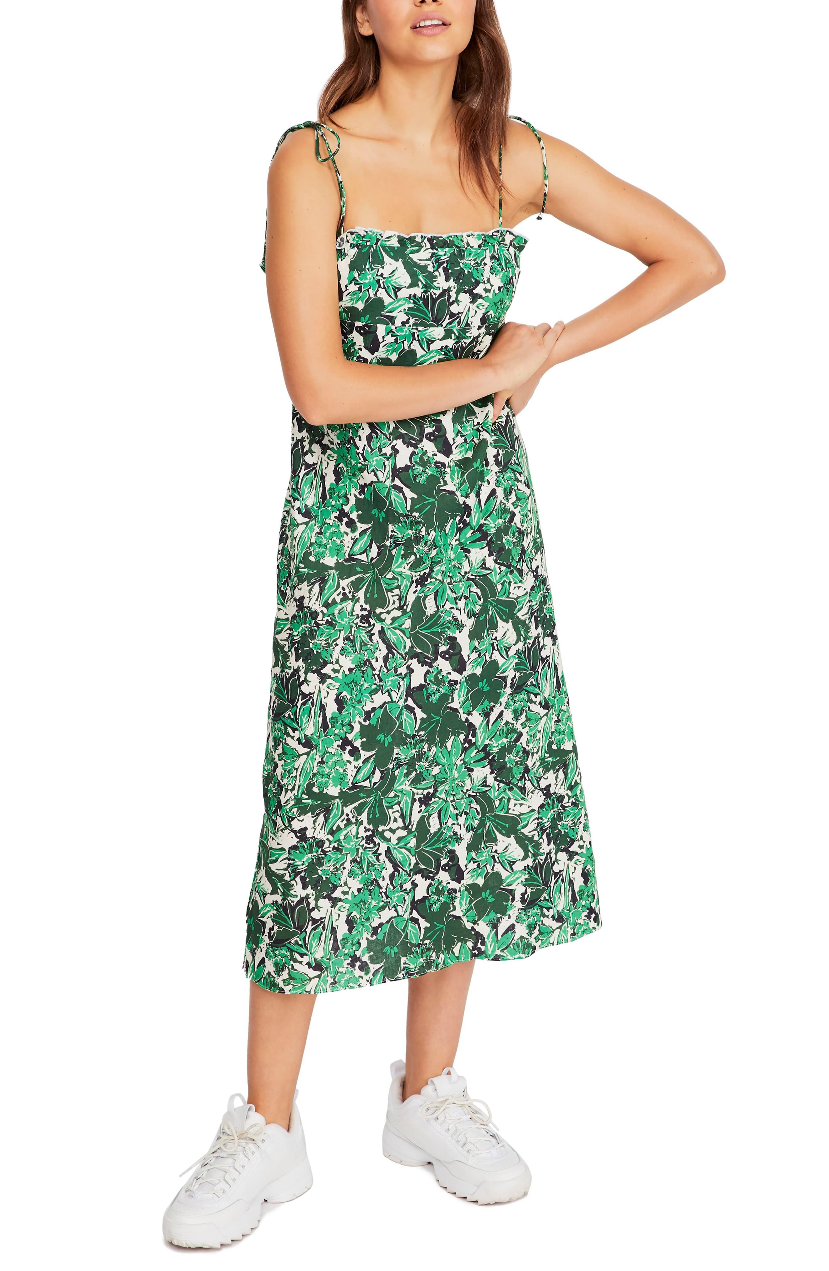 dcee24be88 Women's Free People Beach Party Tie Shoulder Midi Dress, Size 2 ...