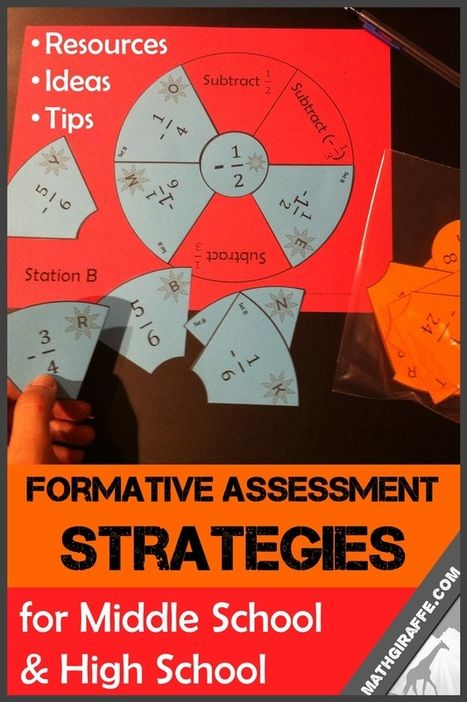 Formative Assessment In Middle  High School  A Bunch Of Great