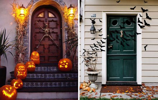Halloween Front Porch Decorations Holiday Decor Pinterest - decorating front porch for halloween