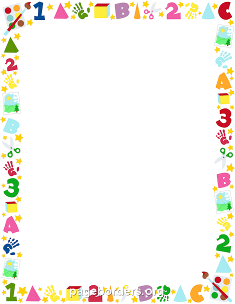 Preschool Border | Clip art borders, Borders for paper ...