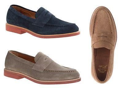 ca6f04f875f J. Crew Kenton Goodyear Welted Suede Penny Loafers