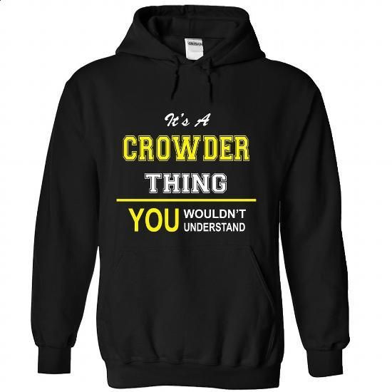 CROWDER-the-awesome - #baseball shirt #tshirt crafts. CHECK PRICE => https://www.sunfrog.com/LifeStyle/CROWDER-the-awesome-Black-65604285-Hoodie.html?68278