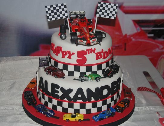 Birthday Cake For 5 Year Boy ~ Image detail for tier race car theme birthday cake for year old