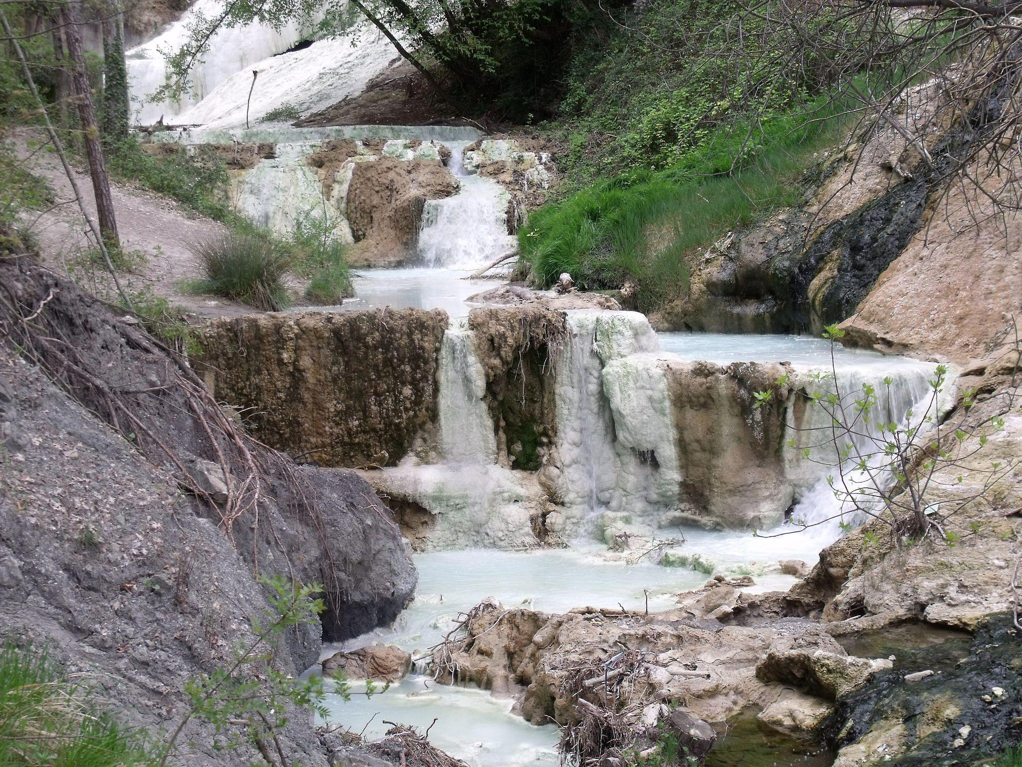 River (torrente) Fosso Bianco in Bagni San Filippo | Monte Amiata ...