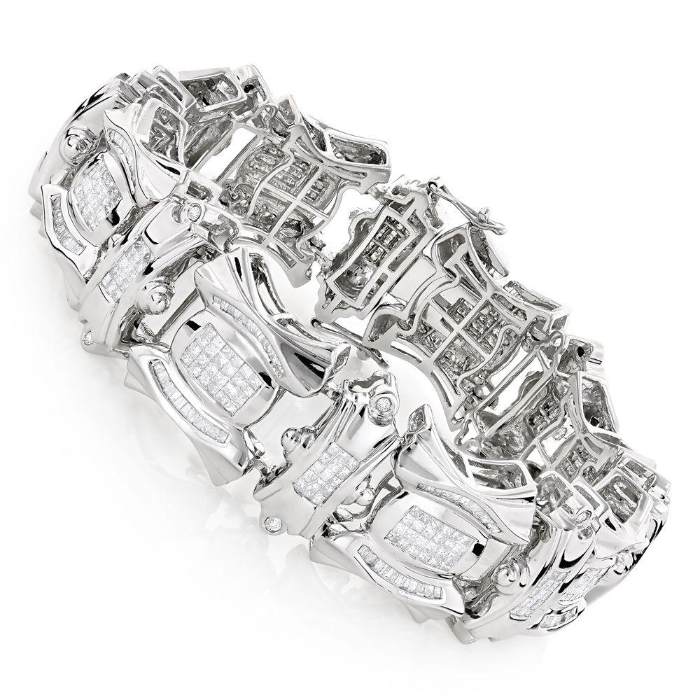 K gold iced out mens diamond bracelet ct jewelery