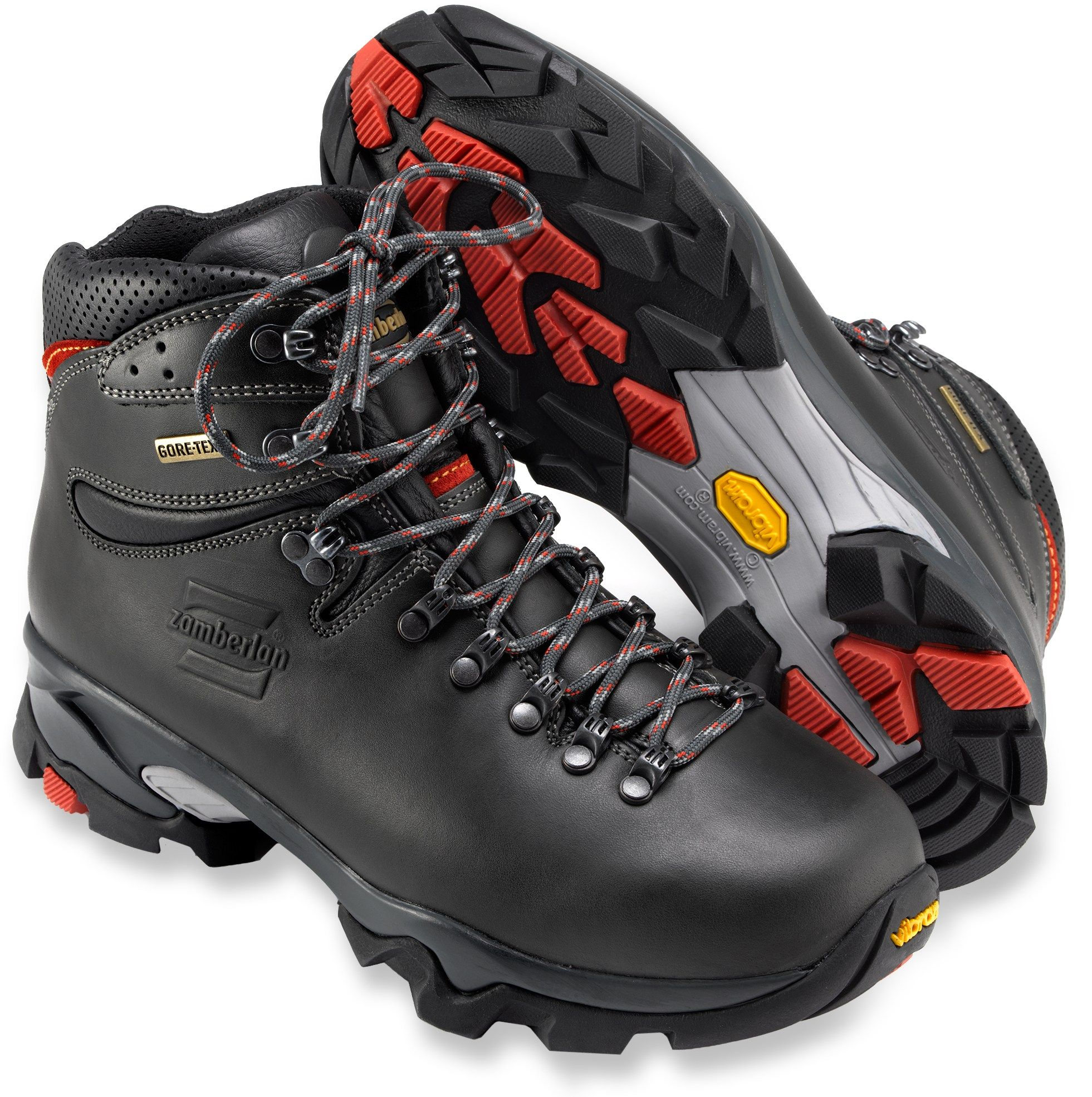 69a8a14ae8e Zamberlan Men's Vioz GT Hiking Boots Dark Gray/Red 14 | Backpacking ...