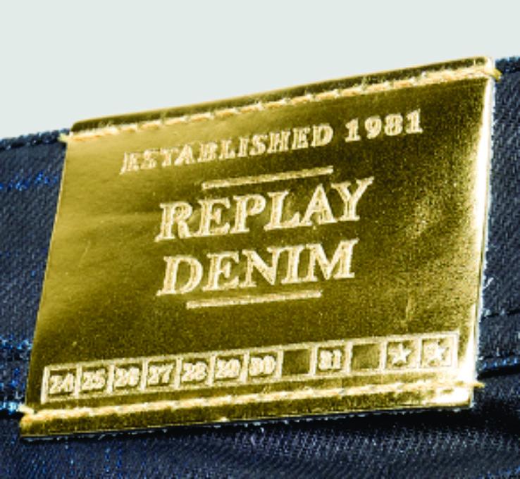 new products 9392c 7002d etiqueta de cintura replay denim dorado. | Patches | Leather ...