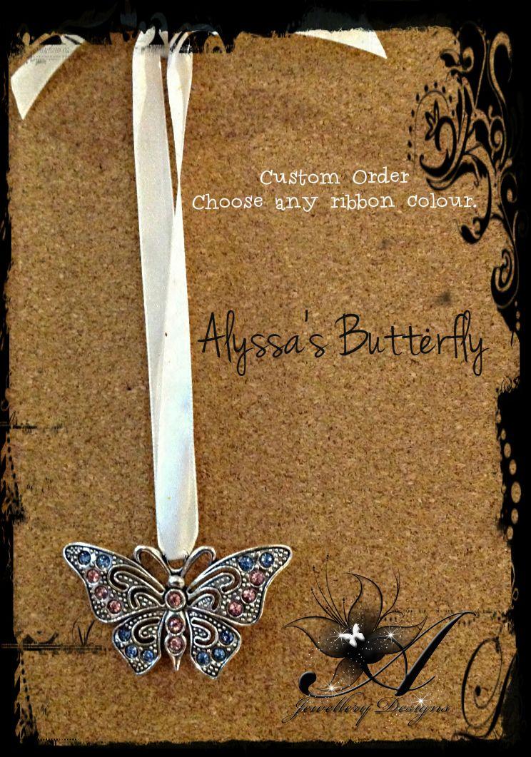 Alyssa's Butterfly Ornament