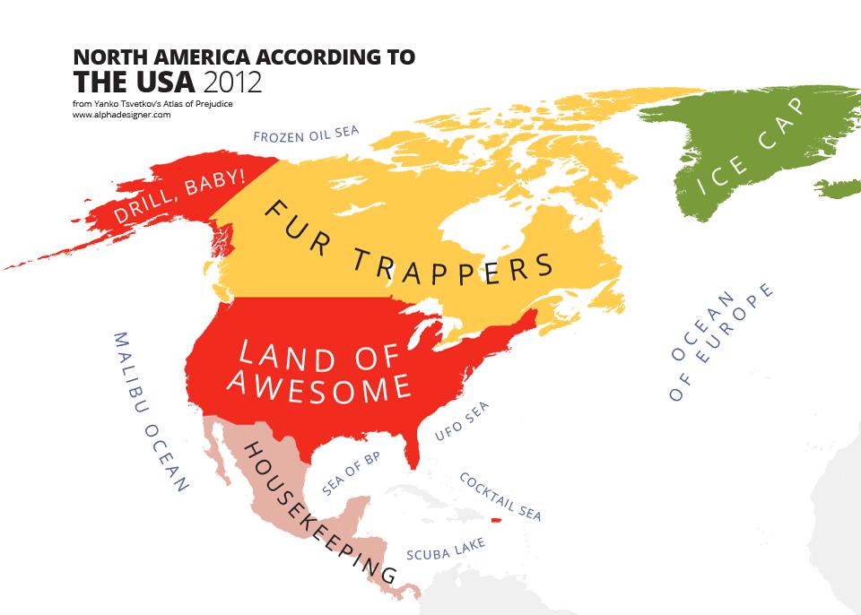 North America According to USA Print | Alphadesigner Art Store ...