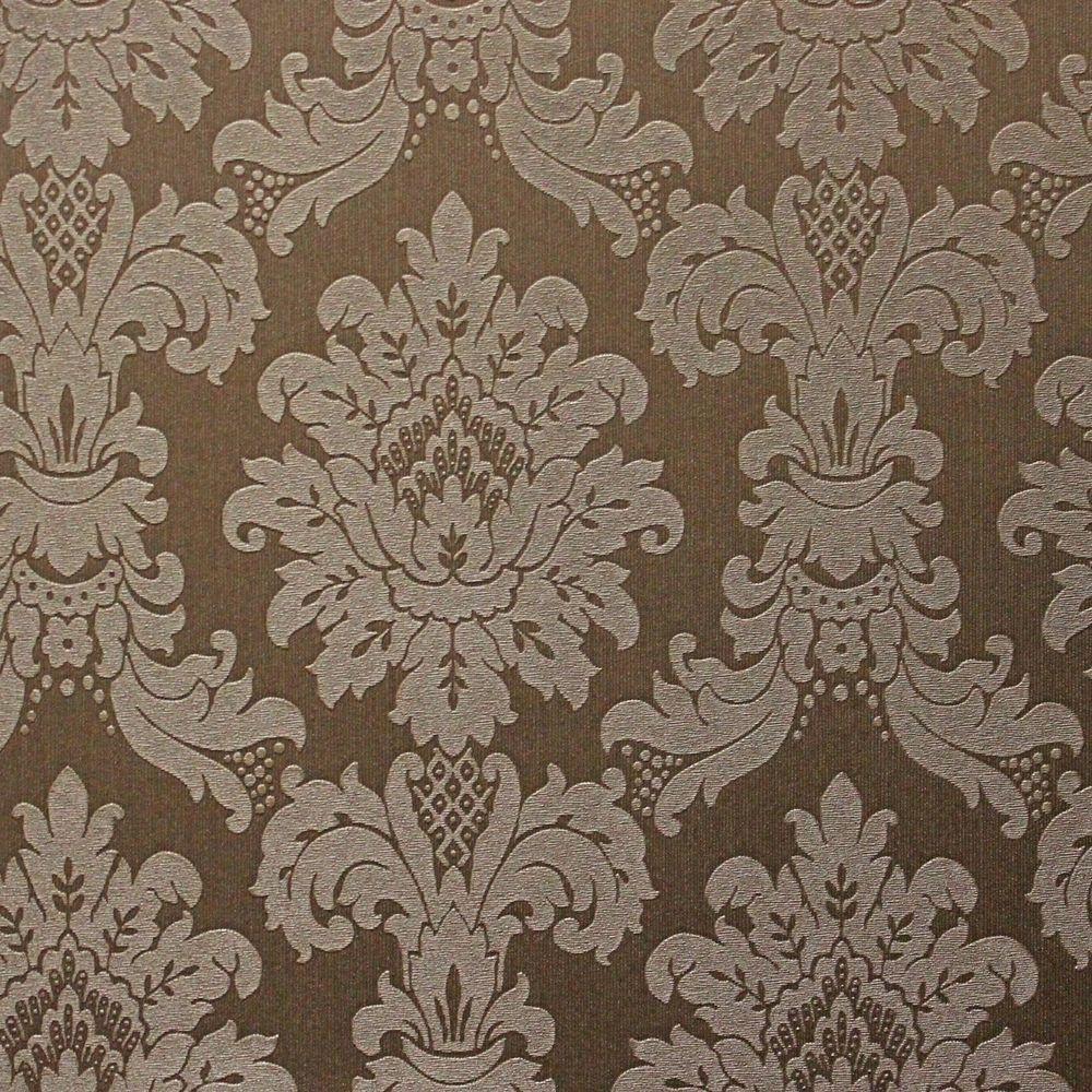 Arthouse Vintage Messina Damask Mocha Heavy Weight Wallpaper