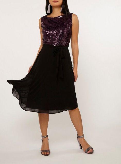 c05ccc3ad8ee   Billie   Blossom Petite Purple Sequin Dress - Dorothy Perkins
