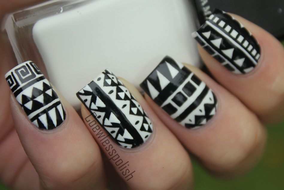 Black and White Aztec.