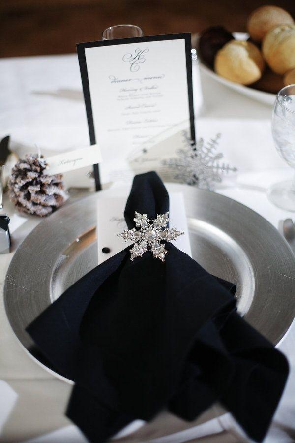 冬のテーブルコーディネイト  -冬のパーティーアイデア