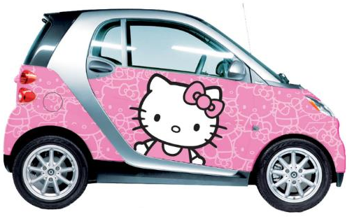 hello kitty bil