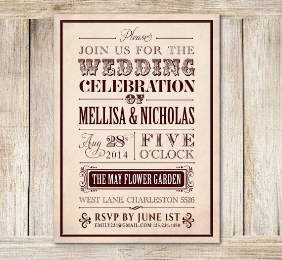 Wedding Reception Only Invitation Sample