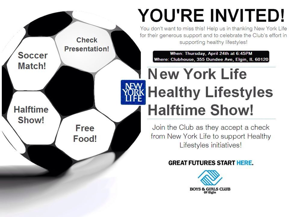 Join us tonight! Soccer match and halftime show at Boys & Girls Club of  Elgin