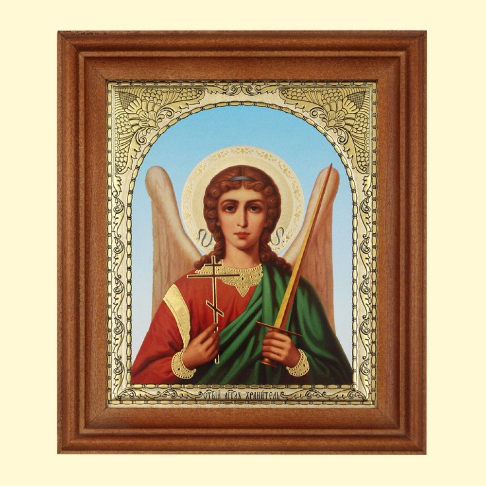 SHOP-PARADISE.COM:  Ikone Angel Hranitel ,13x15 cm,Holzumrahmung,Doppelprägung 14,28 €