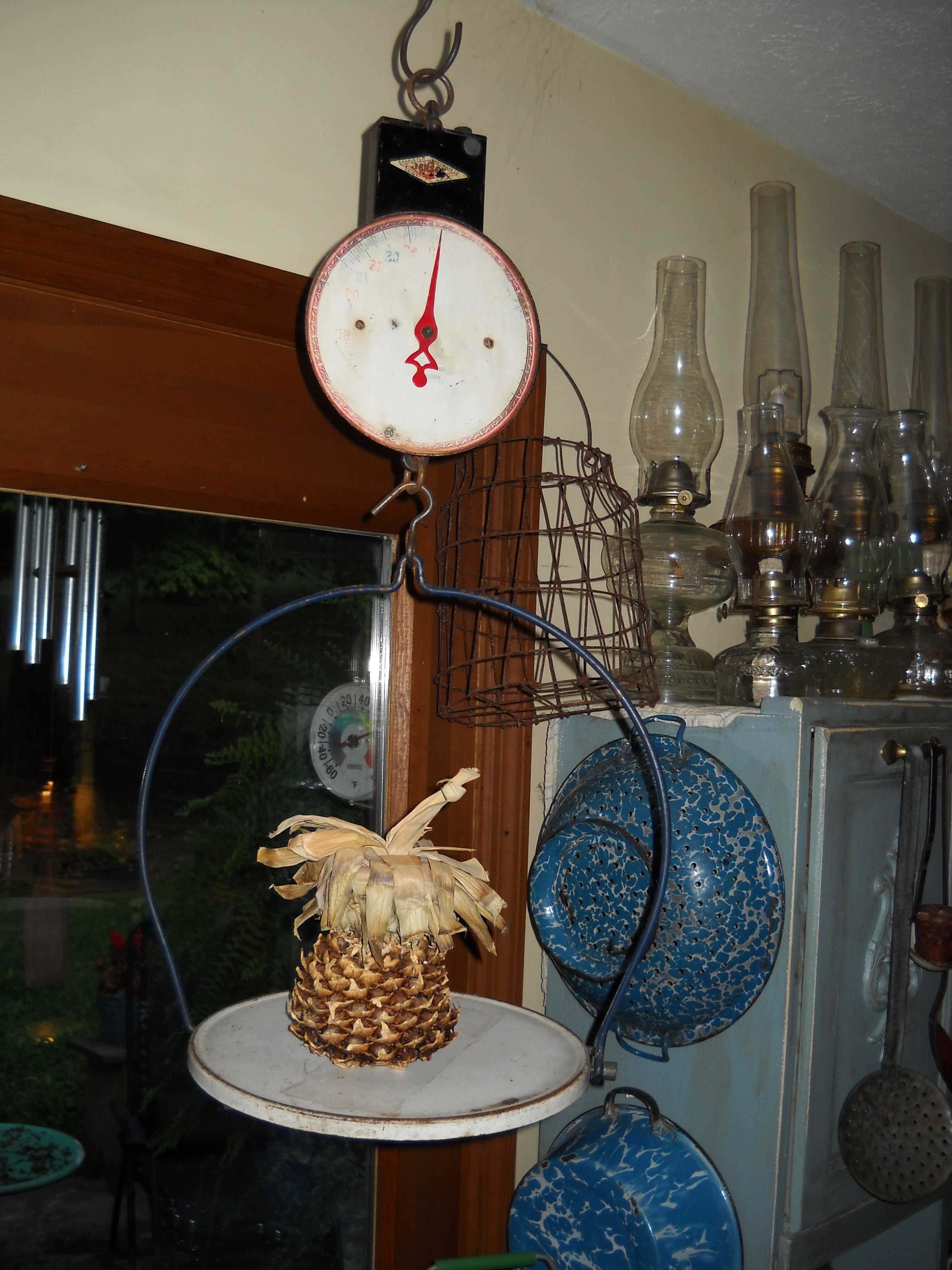 """my """"new"""" old vintage hanging kitchen scale...love it"""
