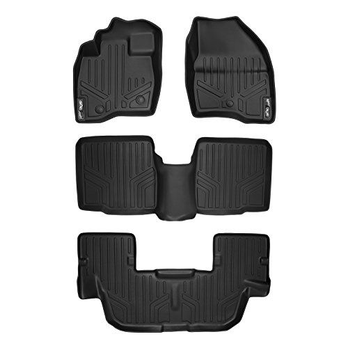 Maxfloormat Floor Mats For Ford Explorer Without Second Row Center Console 2017 3 Row Set Black Ford Explorer Ford Explorer Accessories Ford