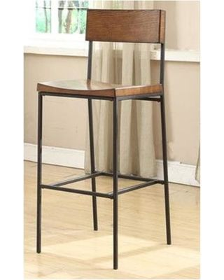 bar stools with back  sc 1 st  Pinterest & otto-30-bar-stool-bar-28-33-low-back-metal-armless-wood-industrial ... islam-shia.org