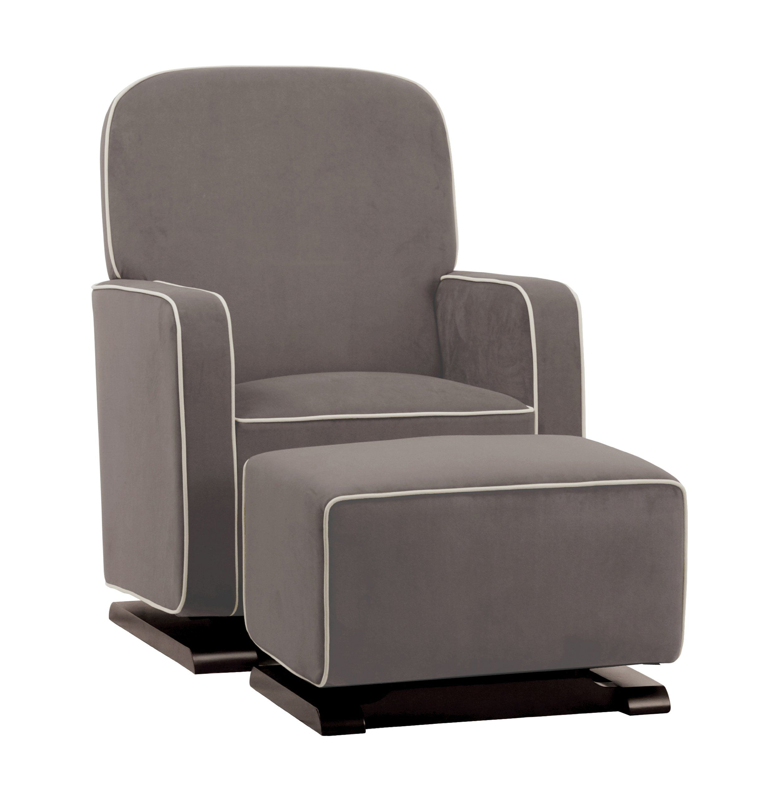 Amazon.com: babyletto Kyoto Glider, Slate Suede with Ecru Piping: Baby