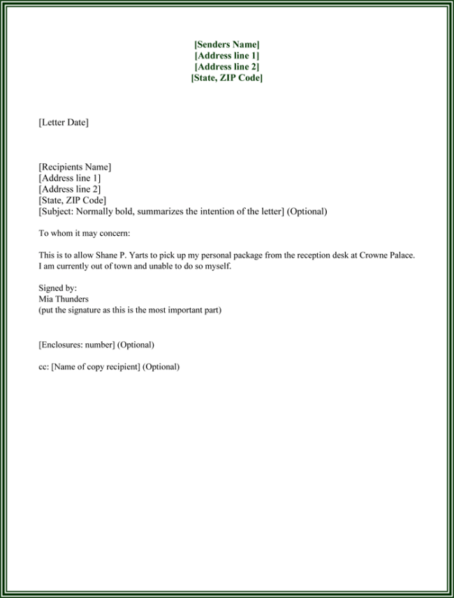 pick authorization form template well printable vbs registration – Letter of Authorization Form