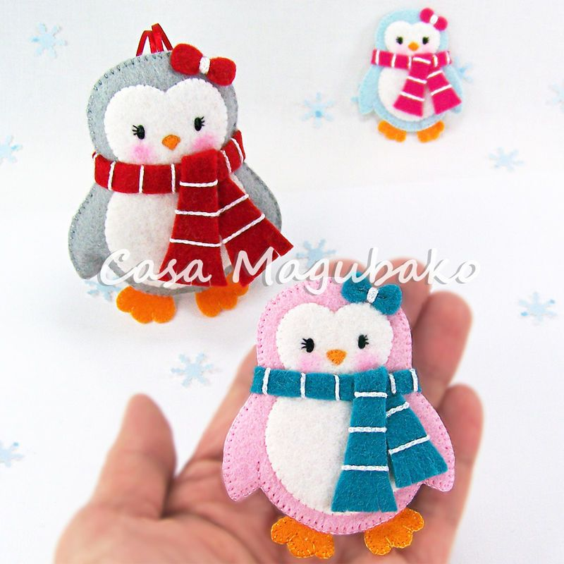 Felt Penguin Digital Pattern - PDF File - DIY Ornament or ...