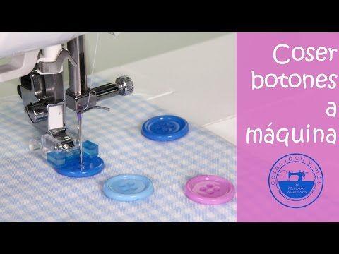 Como Coser Un Boton A Maquina Youtube Tutoriales De Costura Coser Botones Como Coser A Maquina