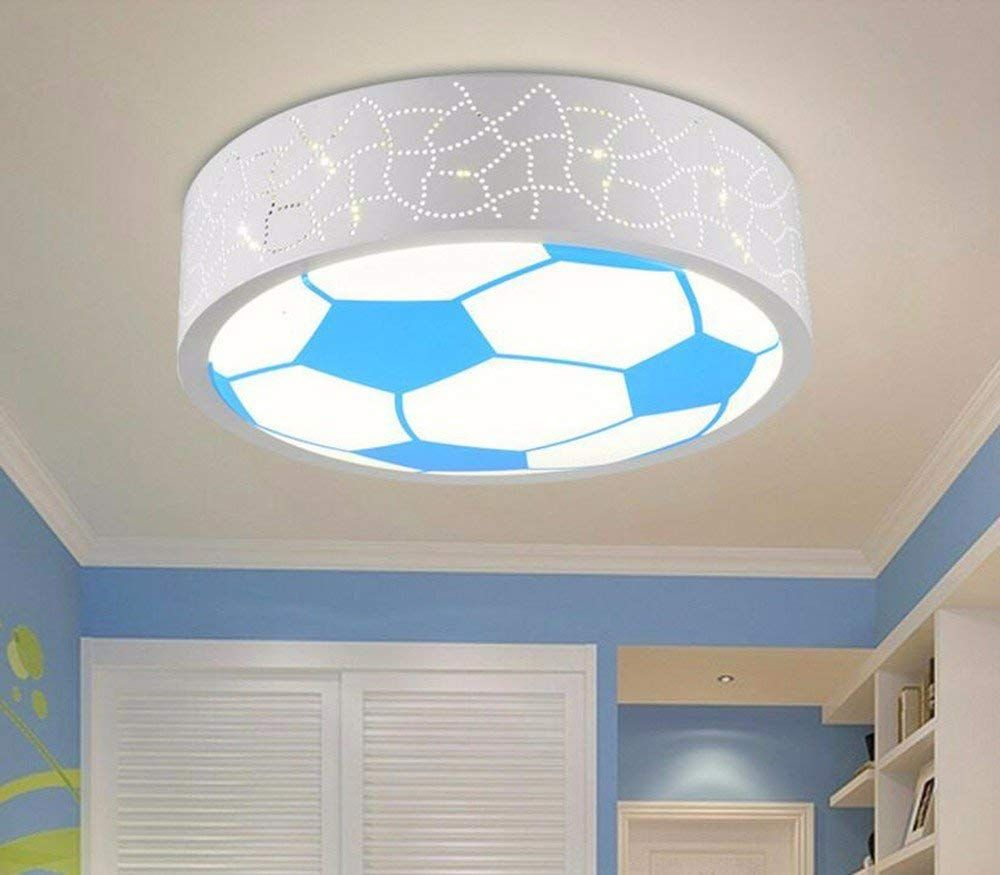 Deckenleuchte Im Fussball Design Diese Lampe Ist Ein Echter Blickfang Im Kinderzimmer Beleuchtung Bett Lampenlicht Lampenschirm Kinderzimmer Beleuchtung Decke