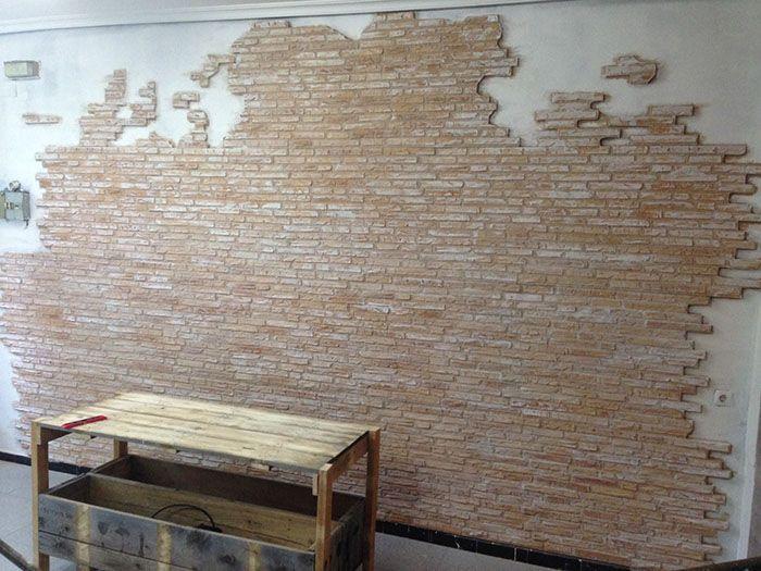 M s de 25 ideas incre bles sobre pared de ladrillos en - Placas imitacion ladrillo ...