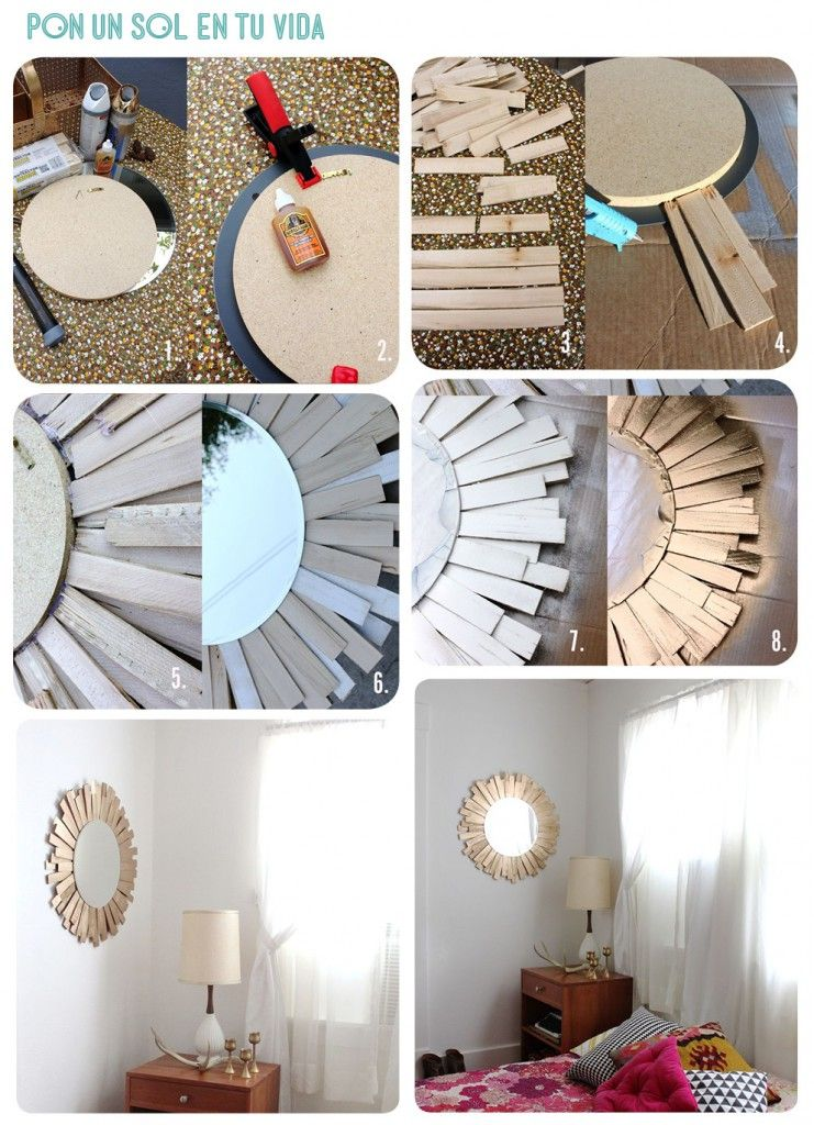 Diy entourage miroir rond id es d co pinterest for Casa miroir rond