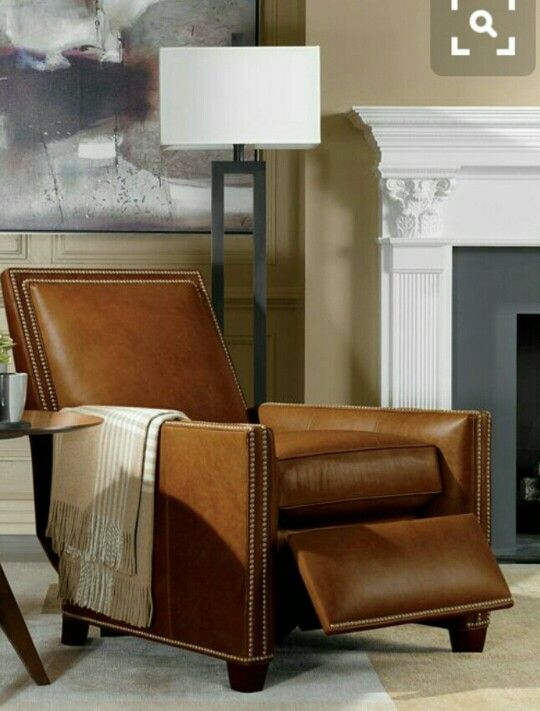 Good THAT Lamp And THAT Leather Recliner Chair . Ethan Allen.