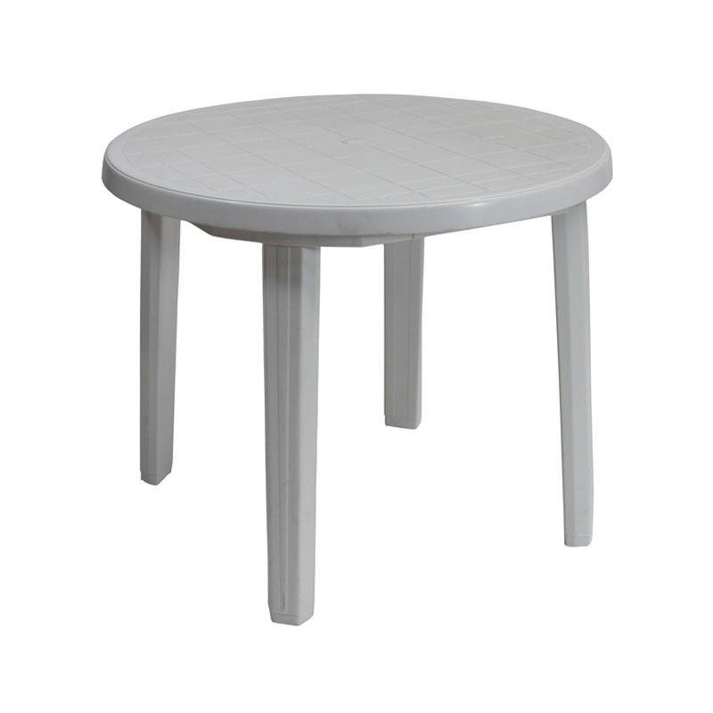 Plastic Patio Table A White Plastic Garden Furniture Set That