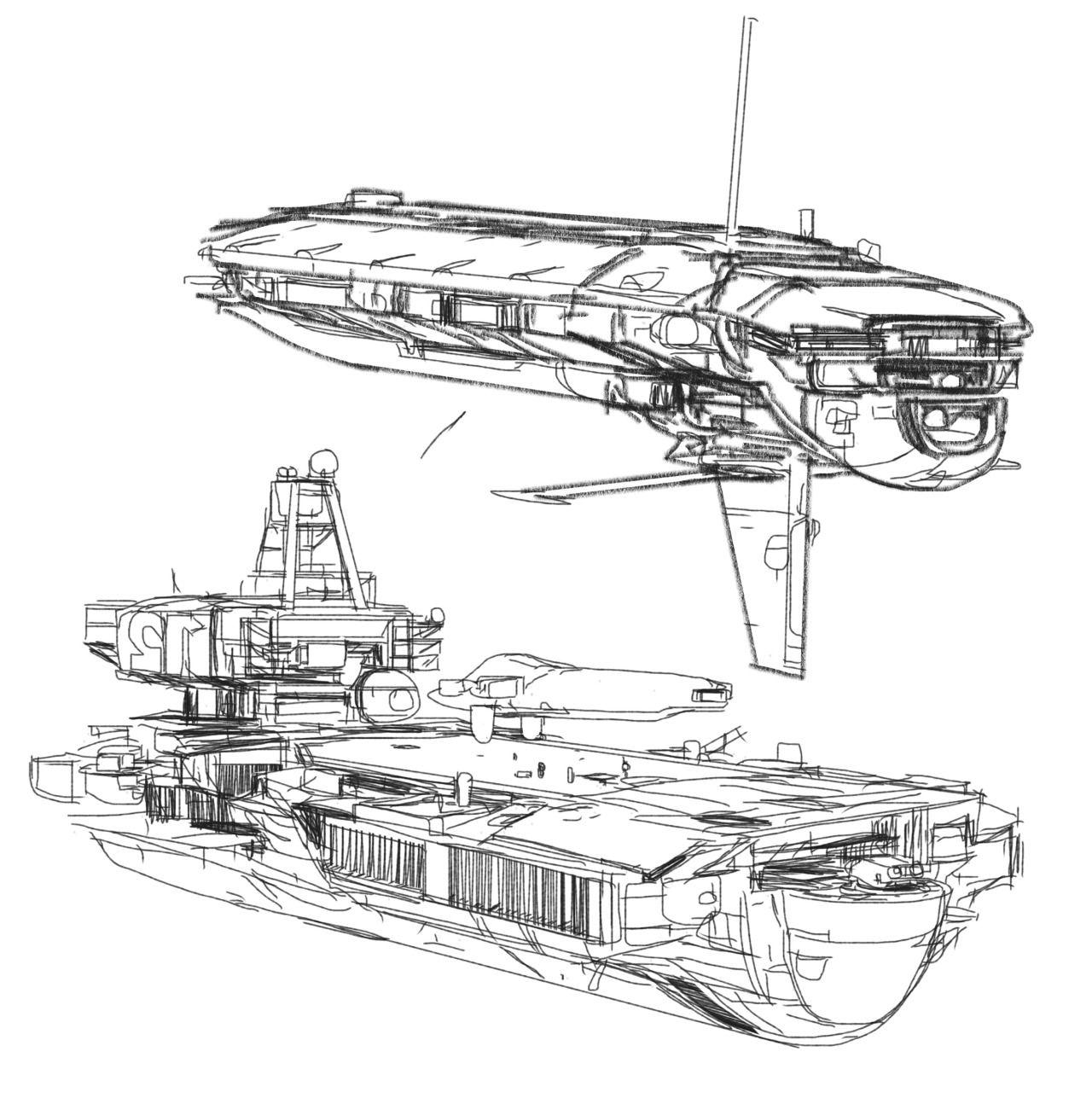 рисунки кораблей будущего в картинках белокочанной