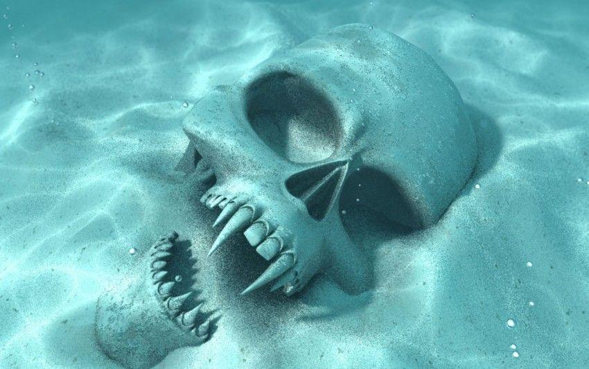 Vampire Skull Vampire skull, Skull wallpaper, Skull art