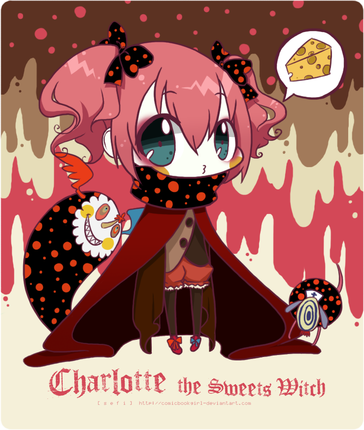 Charlotte the Sweets Witch : chibi : by ~comicbook-girl on deviantART