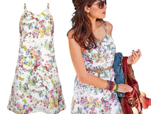 half off d6ff0 df301 Damen #Sommerkleid #creme-#weiss-bunt #Neu #Gr.36 | #eBay ...