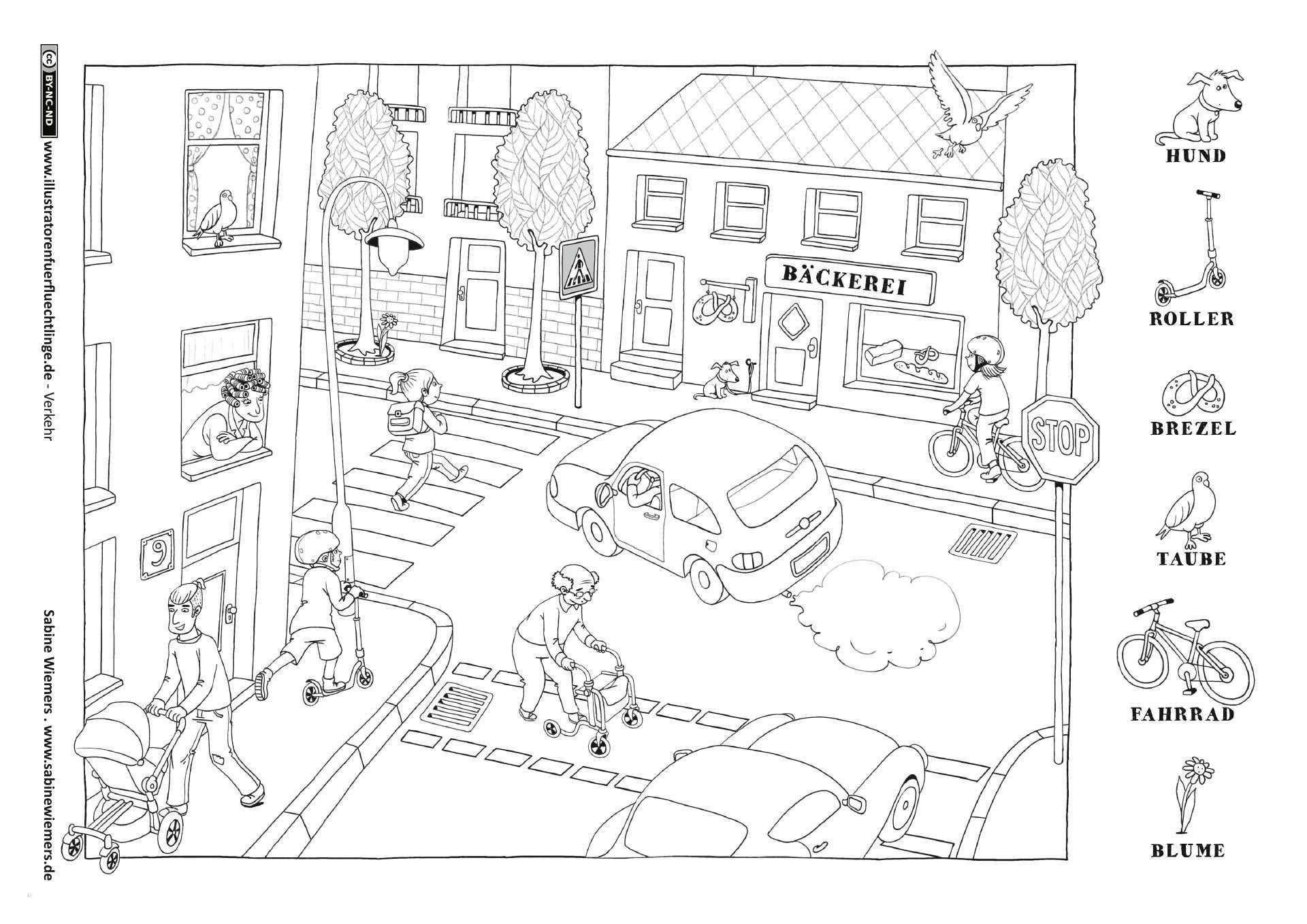 62 Genial Verkehrserziehung Kindergarten Ausmalbilder