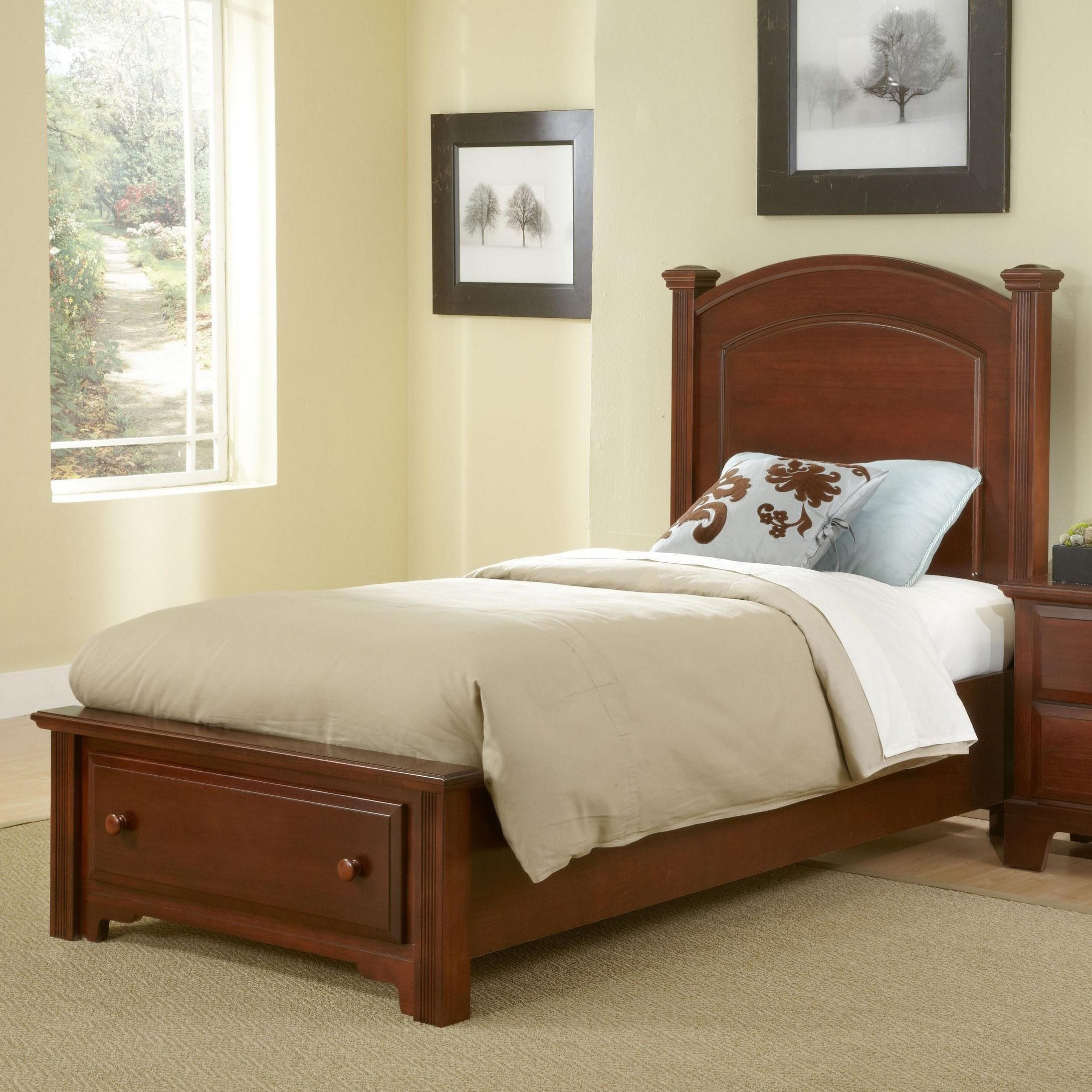 Hamilton Franklin Twin Panel Storage Bed By Vaughan