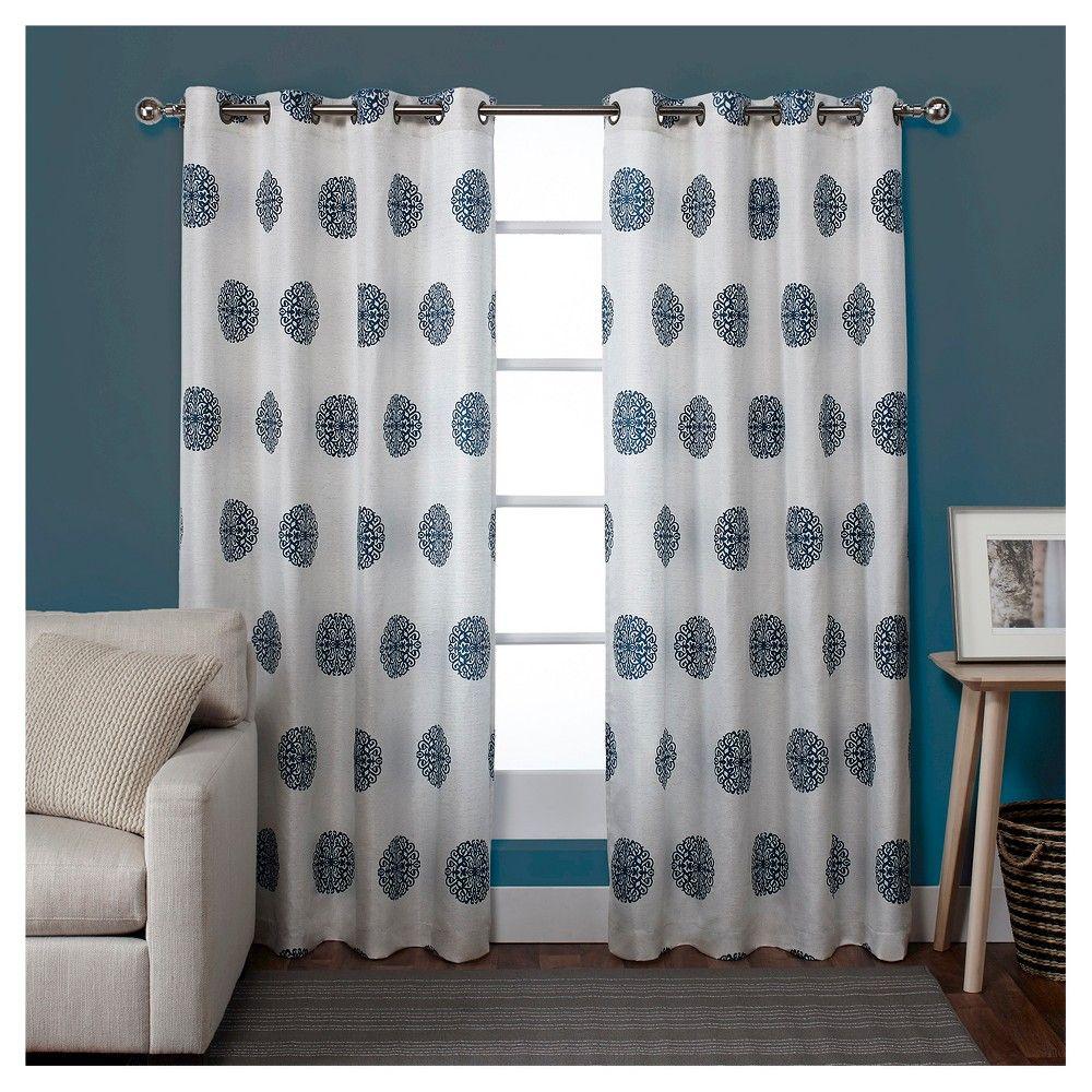 eddc65a15fcc61cfdc32edd2bd791e03 - Better Homes And Gardens Basketweave Curtain Panel Aqua