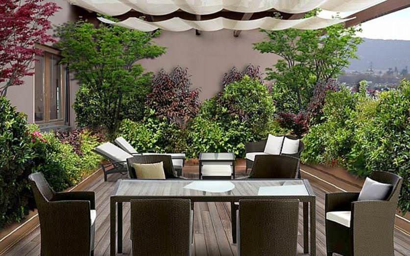 Come arredare un terrazzo | Fioriere da terrazza, Terrazza ...