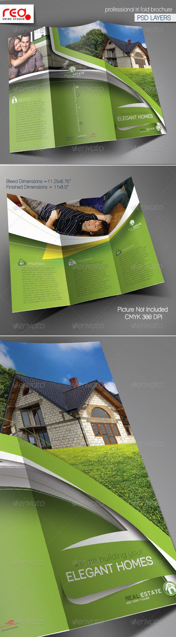 Real Estate Trifold Brochure Template Brochure Template - Real estate tri fold brochure template