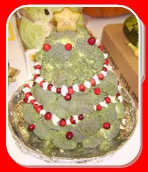 Broccoli Christmas Tree - a veggie dish that acts as a Christmas decoration as well!
