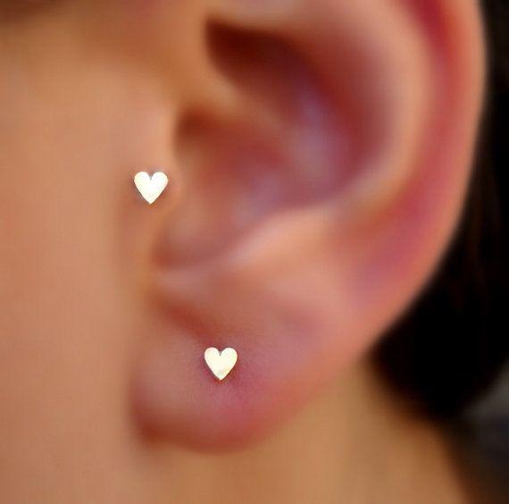 Heart Tragus Nose Ring Cartilage Earring 14k By Holylandstreasures 29 95