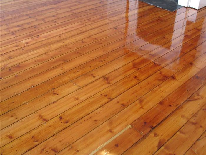 Treated pine floor boards love the honey colour it s